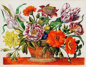 Anna Sibylla Merian, Ein Blumenkörblein, 1680